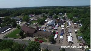 View of Downotown Oronoco Gold Rush Days