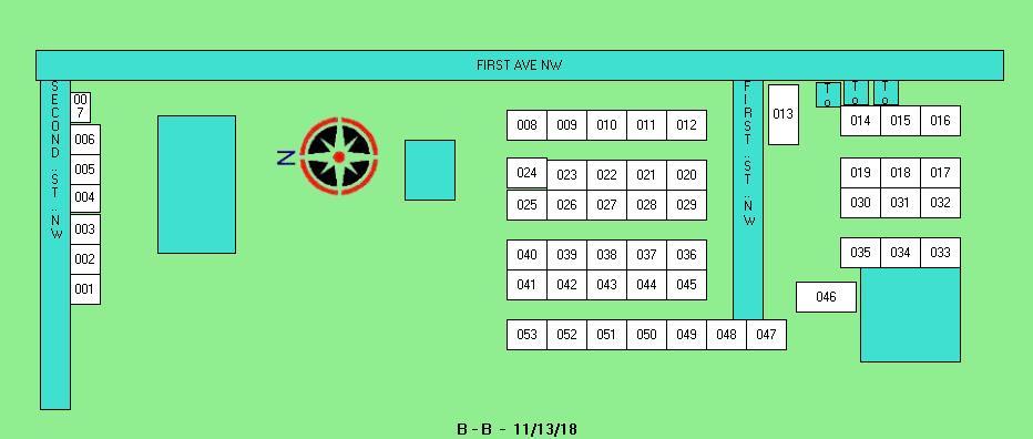 Lot B map