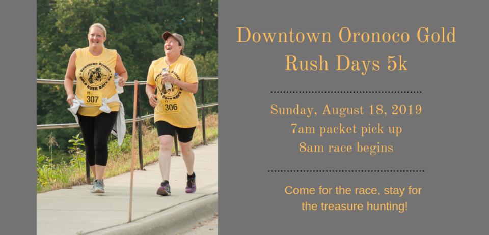 Downtown Oronoco Gold Rush Days 5k