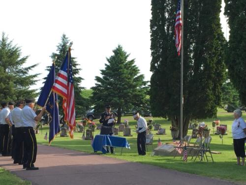 Veteran's Day at the Oronoco Cemetary